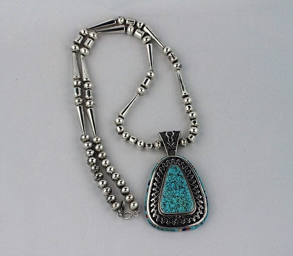 Lee Yazzie Sterling Silver Necklace
