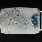 Darryl Begay Sterling Silver Belt Buckle